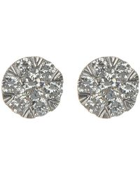 Bony Levy - 18k White Gold Diamond Cluster Stud Earrings - 0.33 Ctw - Lyst
