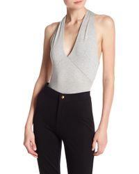 Lush | Halter Neck Knit Bodysuit | Lyst