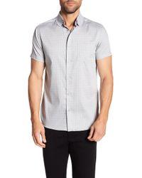 Karl Lagerfeld - Short Sleeve Paisley Modern Fit Shirt - Lyst