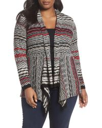 NIC+ZOE - Shaded Stripes Cardigan - Lyst
