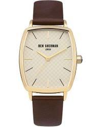 Ben Sherman - Men's Quartz Leather Strap Watch - Lyst