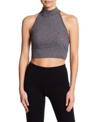 Splendid - Mock Neck Ribbed Bralette - Lyst