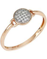 Bony Levy - 18k Rose Gold Diamond Circle Ring - 0.06 Ctw - Lyst