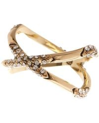House of Harlow 1960 - Sound Waves Embellished Ring - Lyst