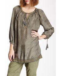 Marrakech - Silk Peasant Tunic - Lyst
