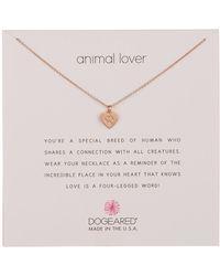 Dogeared - Animal Lover Best Friends Heart Pendant Necklace - Lyst