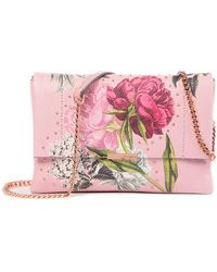 Ted Baker - Ploomi Palace Gardens Leather Crossbody Bag - Lyst