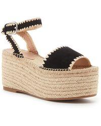 Pour La Victoire - Rian Ankle Strap Platform Wedge Sandal - Lyst