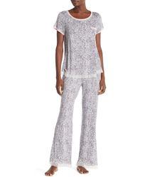 Kensie - Printed Pajama Pants - Lyst