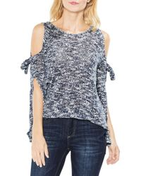 Two By Vince Camuto - Split Sleeve Cold Shoulder Blouse - Lyst