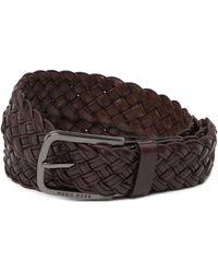 BOSS - Serafino Woven Leather Belt - Lyst