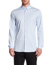 The Kooples - Contrast Trim Fitted Shirt - Lyst