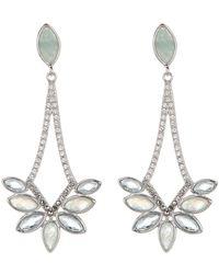 Judith Jack - Sterling Silver Swarovski Marcasite & Quartz Stone Marquise-cut Drop Earrings - Lyst
