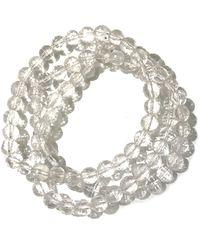 Charlene K - Crystal Gemstone Beaded Bracelet - Set Of 3 - Lyst