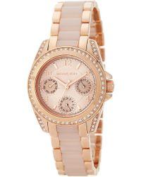 MICHAEL Michael Kors - Women's Mini Blair Multifunction Bracelet Watch, 33mm - Lyst