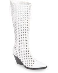 Jeffrey Campbell - Waven Open Weave Knee High Boot (women) - Lyst