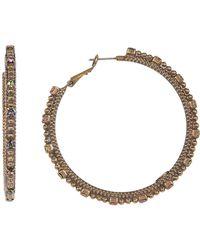 Sorrelli - Large Swarovski Crystal Accented Hoop Earrings - Lyst