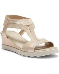 The Flexx - Give A Hoot Wedge Leather Sandal - Lyst