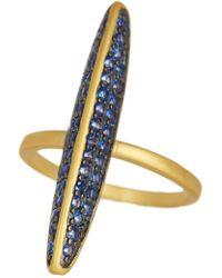 Freida Rothman - Baroque Blues Pave Marquise Ring - Lyst