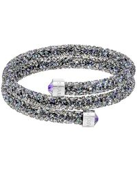 Swarovski - Crystal Dust Studded Crystal Wrap Around Bracelet - Lyst