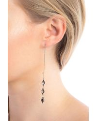 Chan Luu - Sterling Silver Faceted Swarovski Crystal Accented Threader Drop Earrings - Lyst