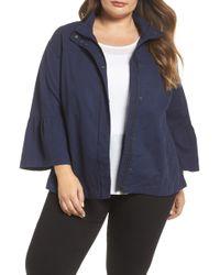 Caslon - Bell Sleeve Utility Jacket (plus Size) - Lyst