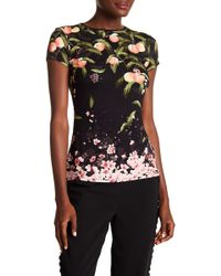 Ted Baker - Peach Blossom Fitted Tee - Lyst