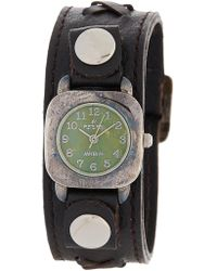 Peyote Bird Women's Kingman Sterling Plated Turquoise Leather Strap Watch, 25mm - Multicolour