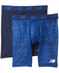"New Balance - Premium Performance 9"" Boxer Briefs - Pack Of 2 - Lyst"