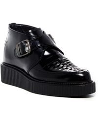 DIESEL - Creep Deep Double Crossover Monk Strap Patent Leather Creeper - Lyst