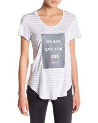 Betsey Johnson - Oh Say Can You Rose Tee - Lyst