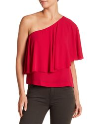 Lucky Brand - One-shoulder Ruffle Blouse - Lyst