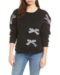 Halogen - Grommet Bow Sweatshirt (petite) - Lyst