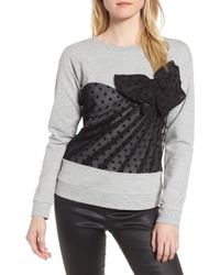 Chelsea28 - Mesh Bow Sweatshirt - Lyst