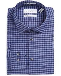 Calibrate - Trim Fit Non-iron Check Dress Shirt - Lyst
