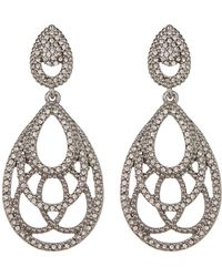 Jenny Packham - Pave Crystal Openwork Teardrop Earrings - Lyst