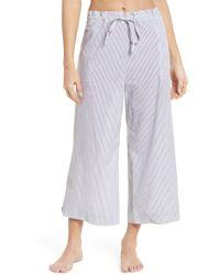 Commando - Cotton Voile Crop Pajama Pants - Lyst