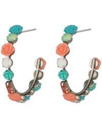 DANNIJO - Wonder Flower 50mm Open Hoop Earrings - Lyst