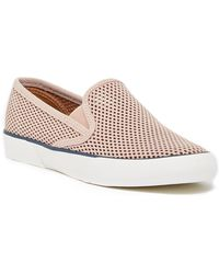 Sperry Top-Sider - Pier Side Perforated Leather Slip-on Sneaker - Lyst