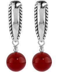 Relios - Sterling Silver Orange Carnelian Drop Earrings - Lyst