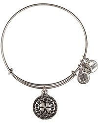 ALEX AND ANI - Lucky Golf Ball Charm Wire Adjustable Bracelet - Lyst