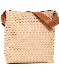 Cate Riley - Tia Perforated Leather Hobo - Lyst