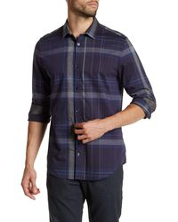CALVIN KLEIN 205W39NYC - Collared Long Sleeve Plaid Shirt - Lyst