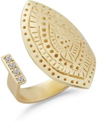 Elizabeth and James - Dolly White Topaz Engraved Statement Ring - Lyst