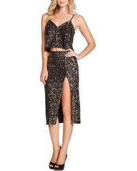 Dress the Population - Alessandra Sequin Midi Skirt - Lyst