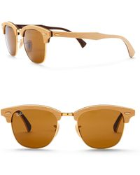 Ray-Ban - Square 55mm Clubmaster Sunglasses - Lyst
