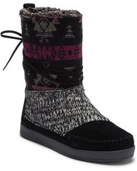 TOMS - Nepal Wool Trimmed Suede Boot - Lyst