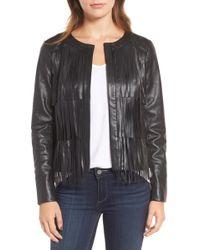 Trouvé - Fringe Faux Leather Jacket - Lyst