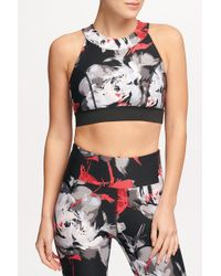 Donna Karan - Printed Fitness Sports Bra - Lyst