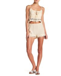 Honey Punch - Sequin Trim Shorts - Lyst